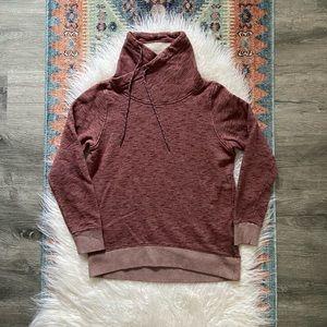 {columbia} burgundy pursuit funnel neck sweatshirt
